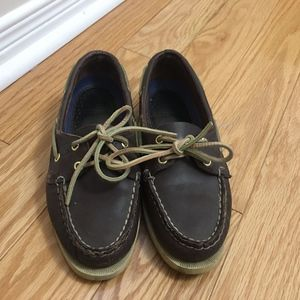 Sperry Top Sider Brown 2-eye Boat Shoes